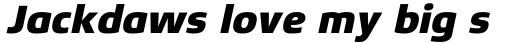 Xenois Sans Pro Heavy Italic sample