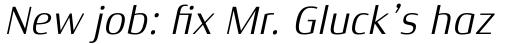 Xenois Semi Pro Italic sample
