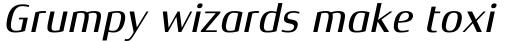 Xenois Semi Pro Medium Italic sample