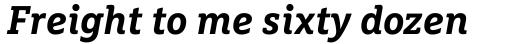 FF Marselis Slab OT Bold Italic sample