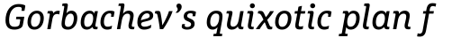 FF Marselis Slab OT Italic sample