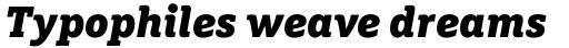 FF Marselis Slab OT Black Italic sample