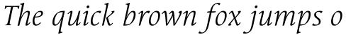 Linotype Syntax Serif Com Light Italic sample