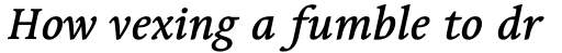 Linotype Syntax Serif Com Medium Italic sample
