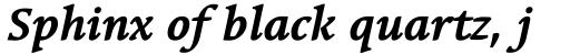 Linotype Syntax Serif Com Bold Italic sample