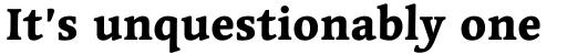 Linotype Syntax Serif Com Heavy sample