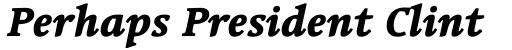 Linotype Syntax Serif Com Heavy Italic sample