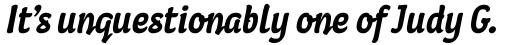 Coomeec Pro Bold Italic sample
