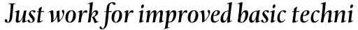 Levato Pro Medium Italic sample
