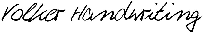 Click to view Volker Handwriting Pro font, character set and sample text