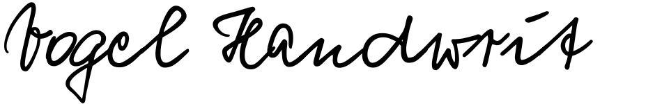 Click to view Vogel Handwriting Pro font, character set and sample text