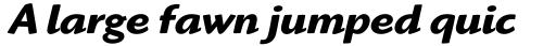 Highlander Bold Italic OS sample