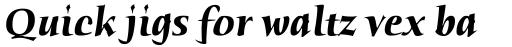 Humana Serif Bold Italic sample