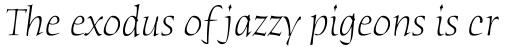 Humana Serif Light Italic sample
