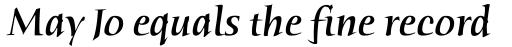 Humana Serif Medium Italic sample