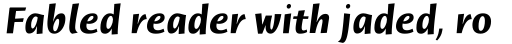 Humana Sans Bold Italic sample