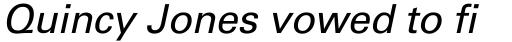 Univers Cyrillic 55 Oblique sample