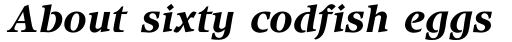 Isbell Bold Italic sample