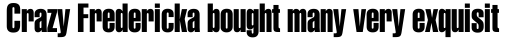 Helvetica Cyrillic Extra Compressed sample
