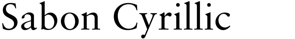 Click to view Sabon Cyrillic font, character set and sample text
