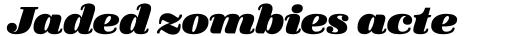 FF Quixo OT Black Italic sample