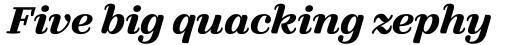 FF Quixo Pro Bold Italic sample