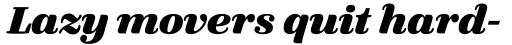 FF Quixo Pro ExtraBold Italic sample