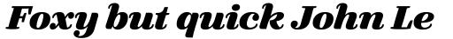 FF Quixo OT ExtraBold Italic sample