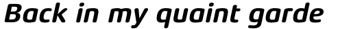 Xenois Soft Bold Italic sample