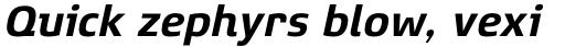 Xenois Super Bold Italic sample