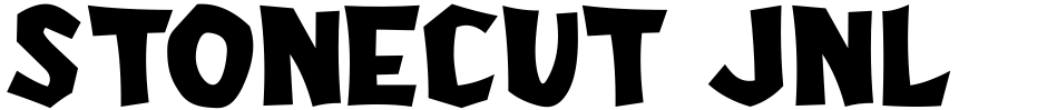 Click to view  Stonecut JNL font, character set and sample text