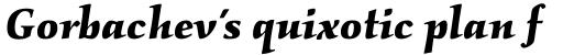 Kallos Bold Italic sample