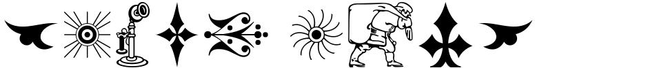 Click to view Print Shop Relics JNL font, character set and sample text