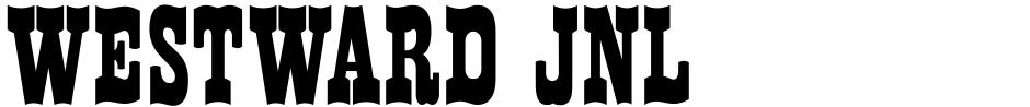 Click to view Westward JNL font, character set and sample text