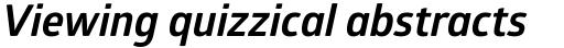 Glober Bold Italic sample