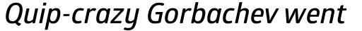 Glober Semi Bold Italic sample