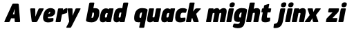 PF Square Sans Cond Pro ExtraBlack Italic sample