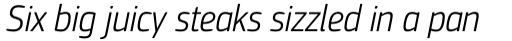 PF Square Sans Cond Pro Light Italic sample