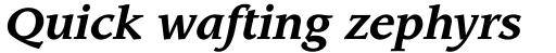 Leawood Bold Italic sample