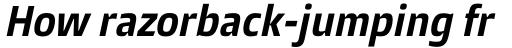 Burlingame Cond Bold Italic sample