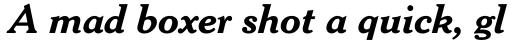 Cheltenham Bold Italic sample