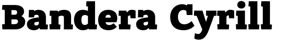 Click to view Bandera Cyrillic font, character set and sample text
