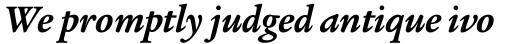 Legacy Serif Bold Italic sample