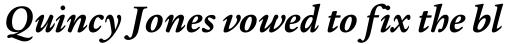 Legacy Serif Bold Italic OS sample
