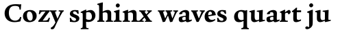 Legacy Serif Bold OS sample