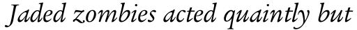 Legacy Serif Book Italic sample