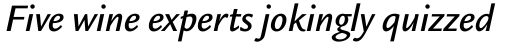 Legacy Sans OS Medium Italic sample
