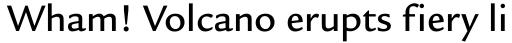 Legacy Sans OS Medium sample