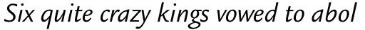 Legacy Sans Book Italic sample