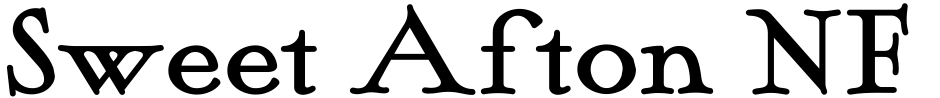 Click to view Sweet Afton NF font, character set and sample text